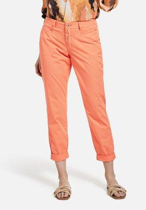 Spodnie materiałowe - papaya