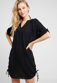 Seafolly - BEACH TEXTURED COVER UP - Complementos de playa - black - 0