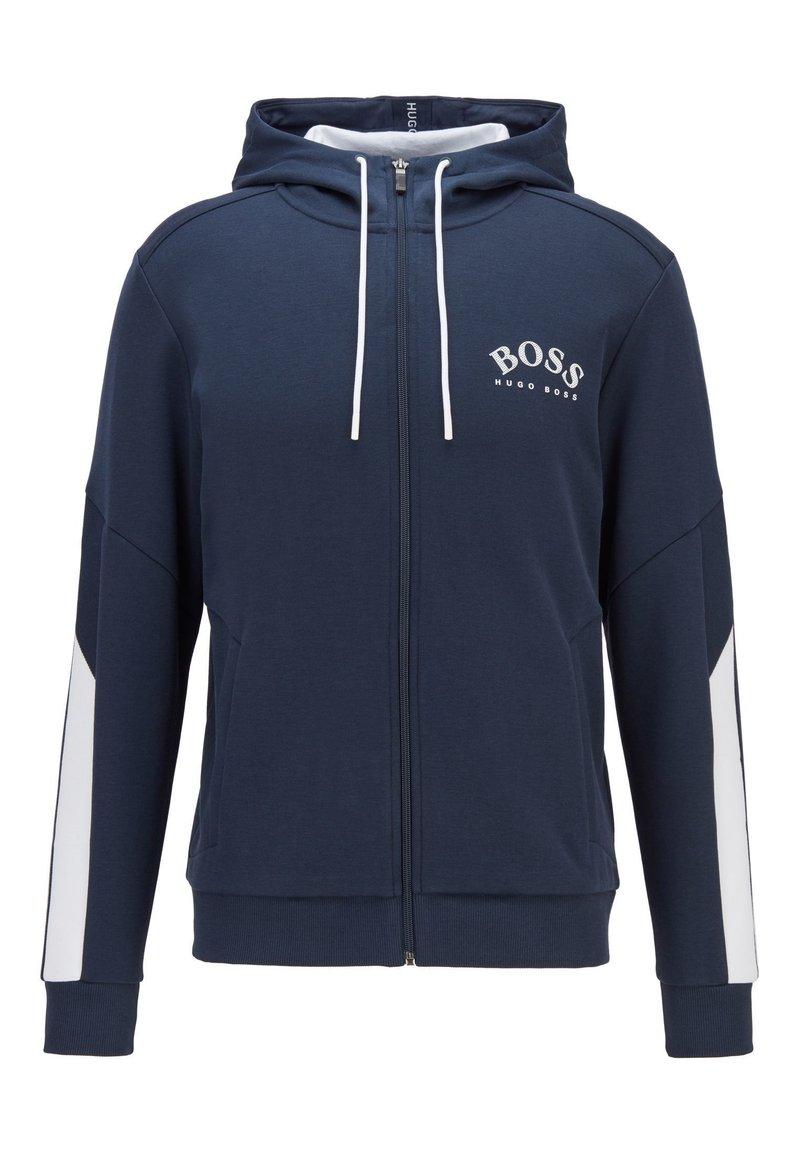 BOSS - SAGGY - Zip-up hoodie - dark blue