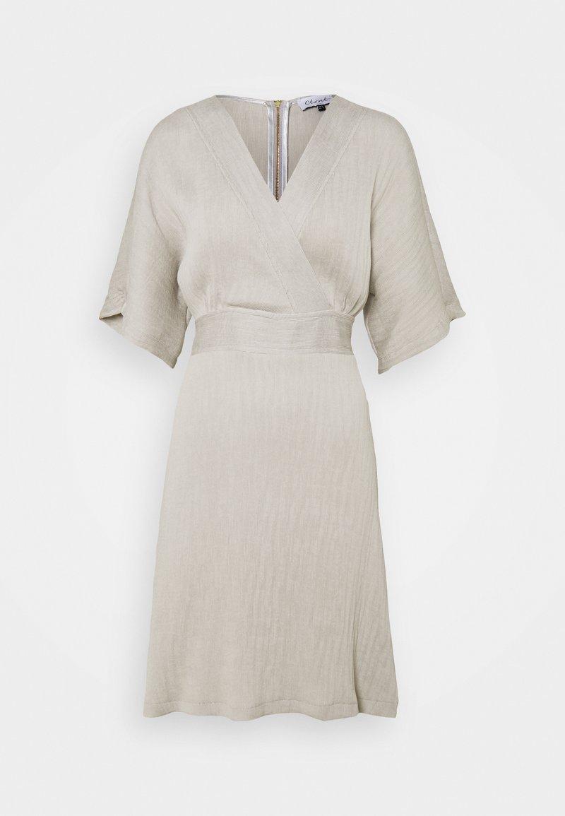 Closet - WRAP KIMONO MINI DRESS - Day dress - grey