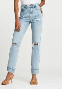 River Island - SCULPT - Slim fit jeans - blue - 0