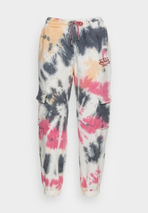 EVER - Tracksuit bottoms - tie dye red