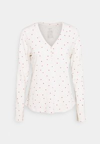 Lindex - NIGHT TOP X MAS JENNIE - Pyjama top - light beige melange - 0