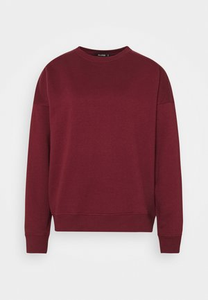 BASIC OVERSIZED  - Sweatshirt - burgundy