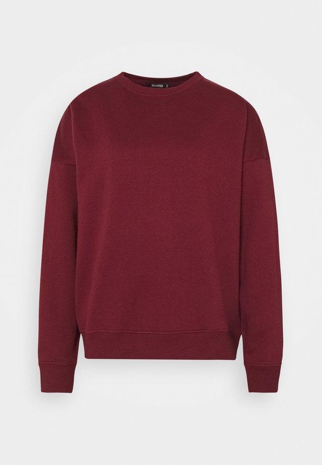 BASIC OVERSIZED  - Sweater - burgundy