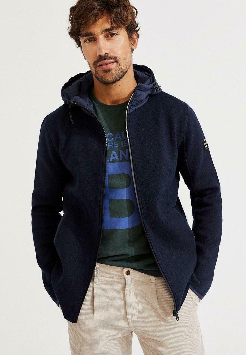 Ecoalf - Zip-up sweatshirt - azul