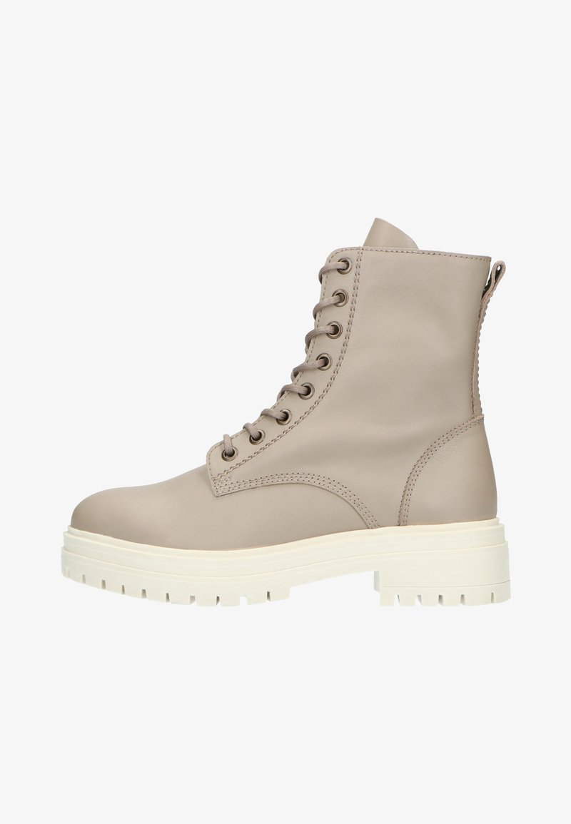 Manfield - Platform ankle boots - taupe