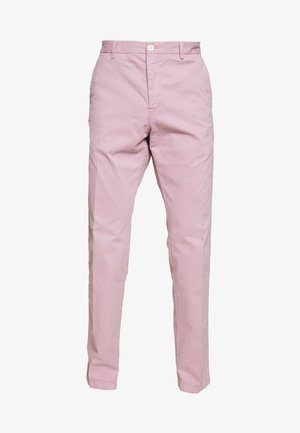 STRETCH SLIM FIT PANTS - Trousers - purple