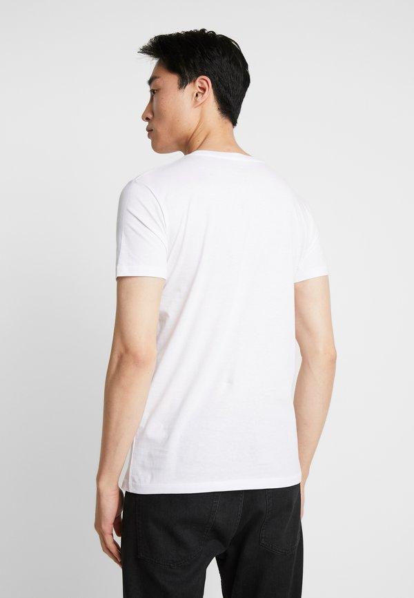 TOM TAILOR DENIM PACKAGING - T-shirt basic - white/biały Odzież Męska PEIC