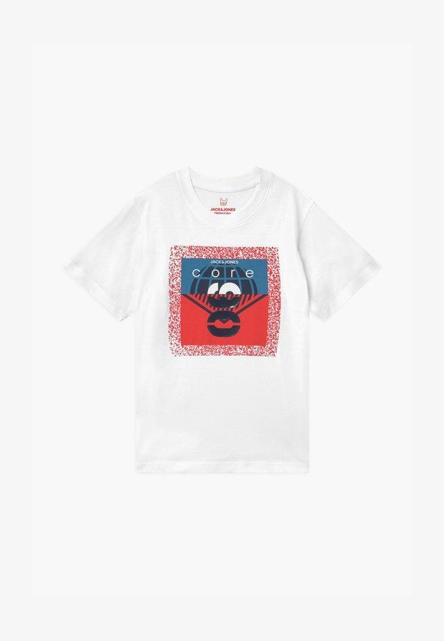 JCOSPLATTER TEE CREW NECK - Print T-shirt - white