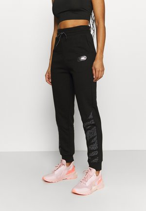 REBEL HIGH WAIST PANTS  - Tracksuit bottoms - puma black untamted
