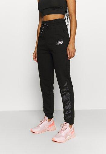 REBEL HIGH WAIST PANTS  - Tracksuit bottoms - puma black untamted