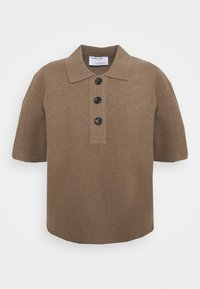 DESIGNERS REMIX - LUCCA BLOUSE - Polo shirt - taupe - 0