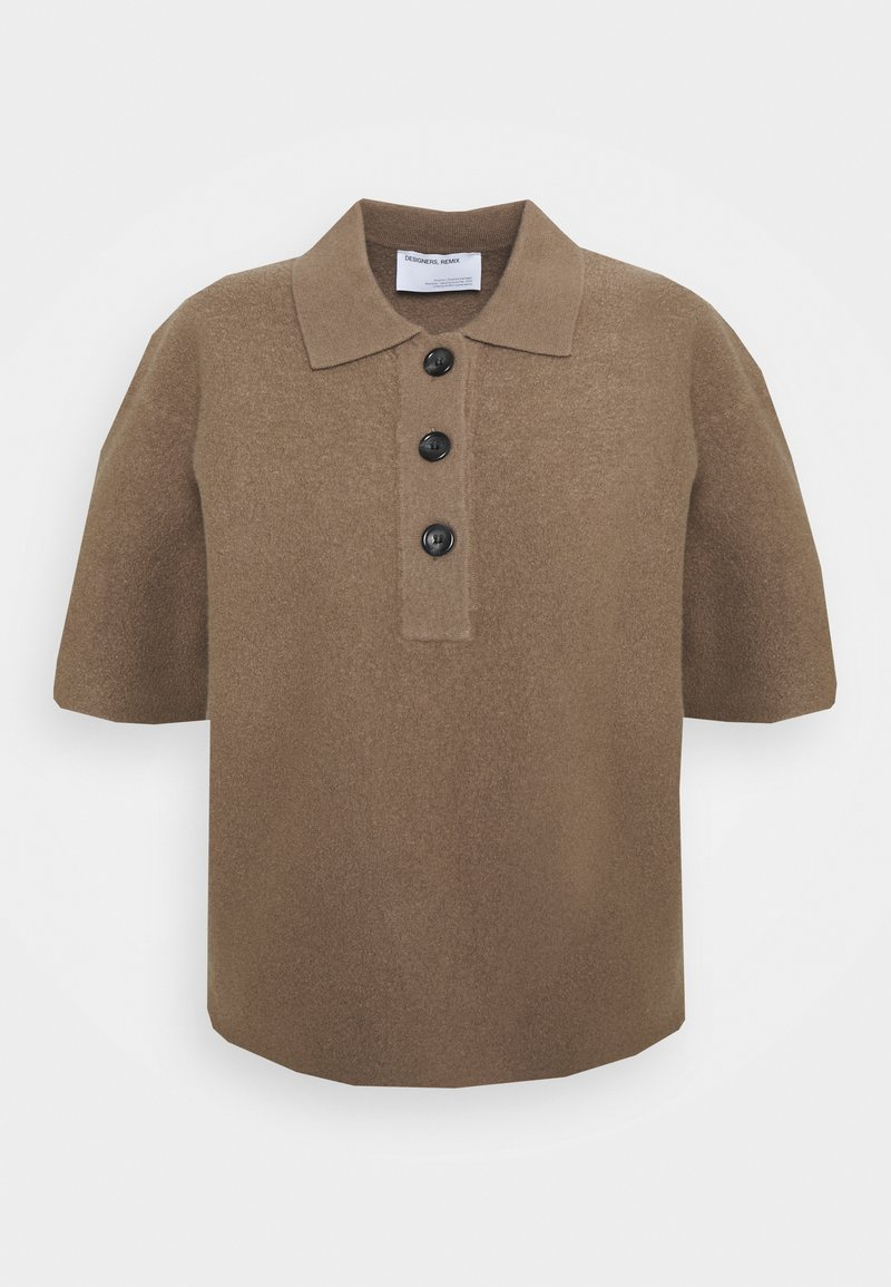 DESIGNERS REMIX - LUCCA BLOUSE - Polo shirt - taupe