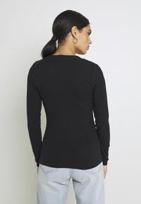 YAS - YASBLAX BUTTON - Long sleeved top - black - 2