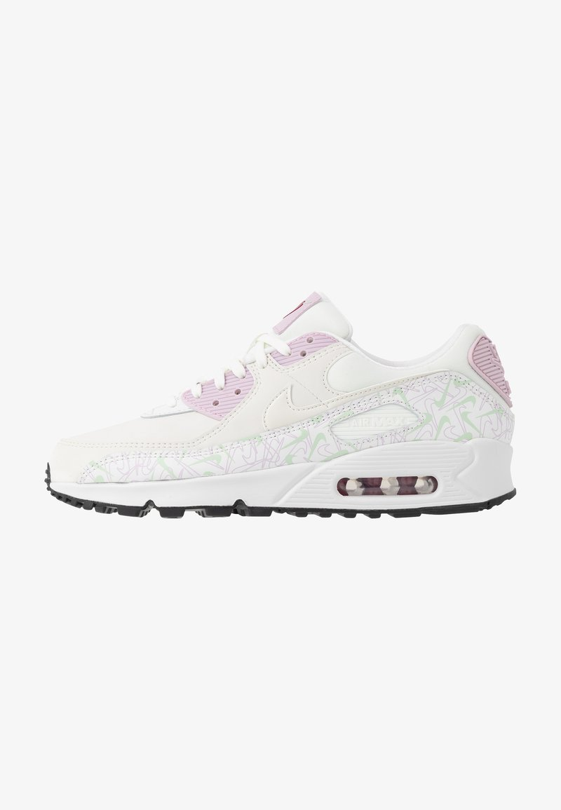 Nike Sportswear - AIR MAX 90 - Sneakersy niskie - summit white/pistachio frost/iced lilac/noble red/black