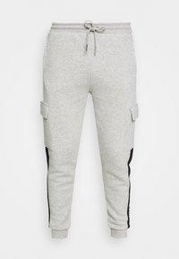 CHAPMAN  - Cargo trousers - grey marl/black/white