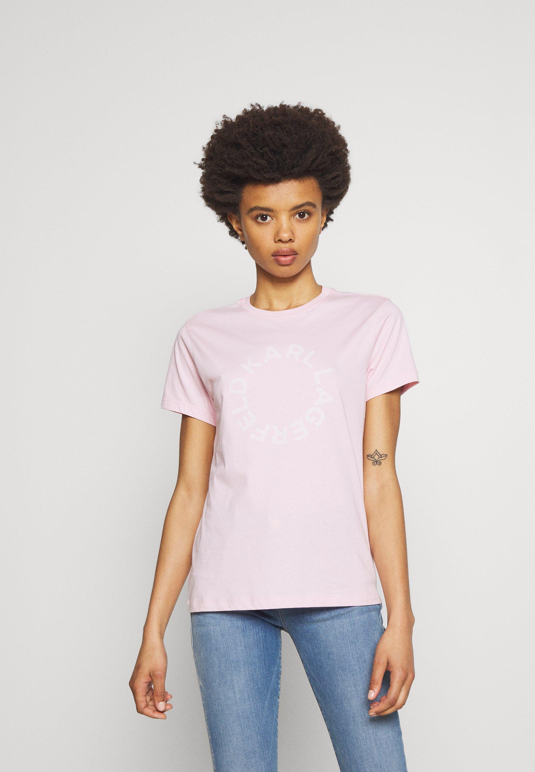 Shop Women's Clothing KARL LAGERFELD CIRCLE LOGO Print T-shirt pink hCJIkOpu4
