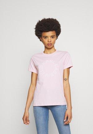 CIRCLE LOGO - T-shirt z nadrukiem - pink