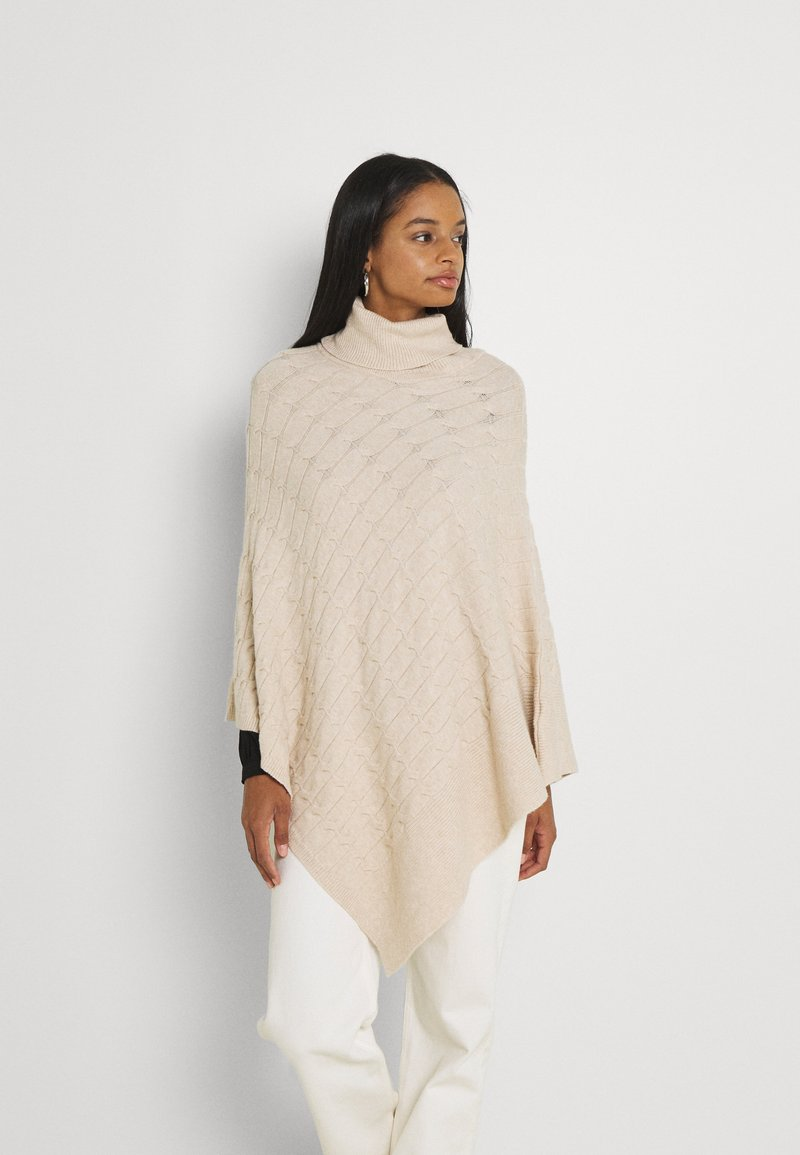 Forever New - RUBY CABLE KNIT PONCHO - Poncho - oatmeal