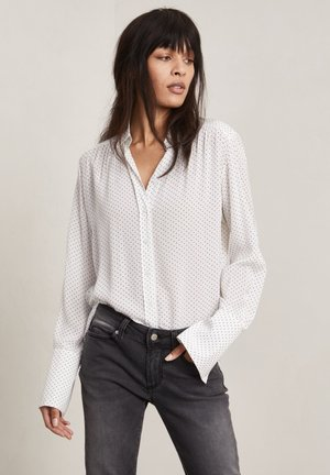 FORD - Button-down blouse - off-white aop