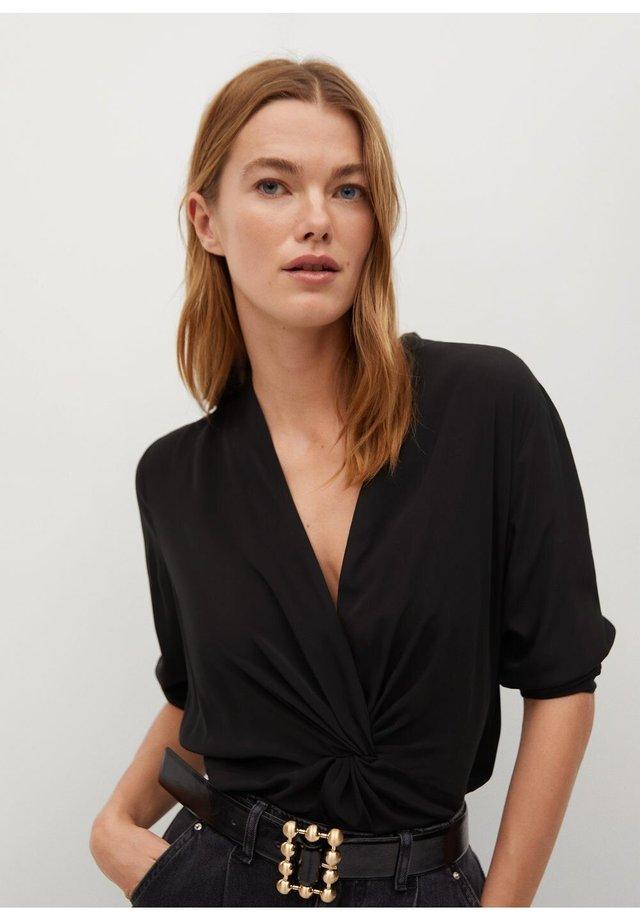 DRAP - Bluse - schwarz