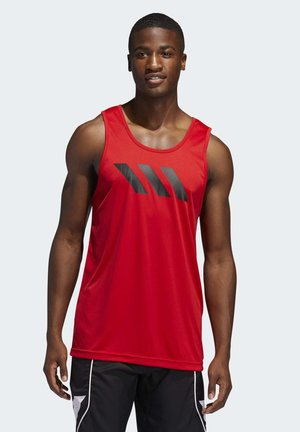 SPORT 3-STRIPES TANK TOP - Sports shirt - red