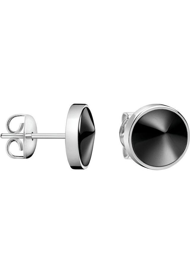 CALVIN KLEIN DAMEN-OHRSTECKER FRACTAL EDELSTAHL/KUNSTHARZ - Earrings - schwarz