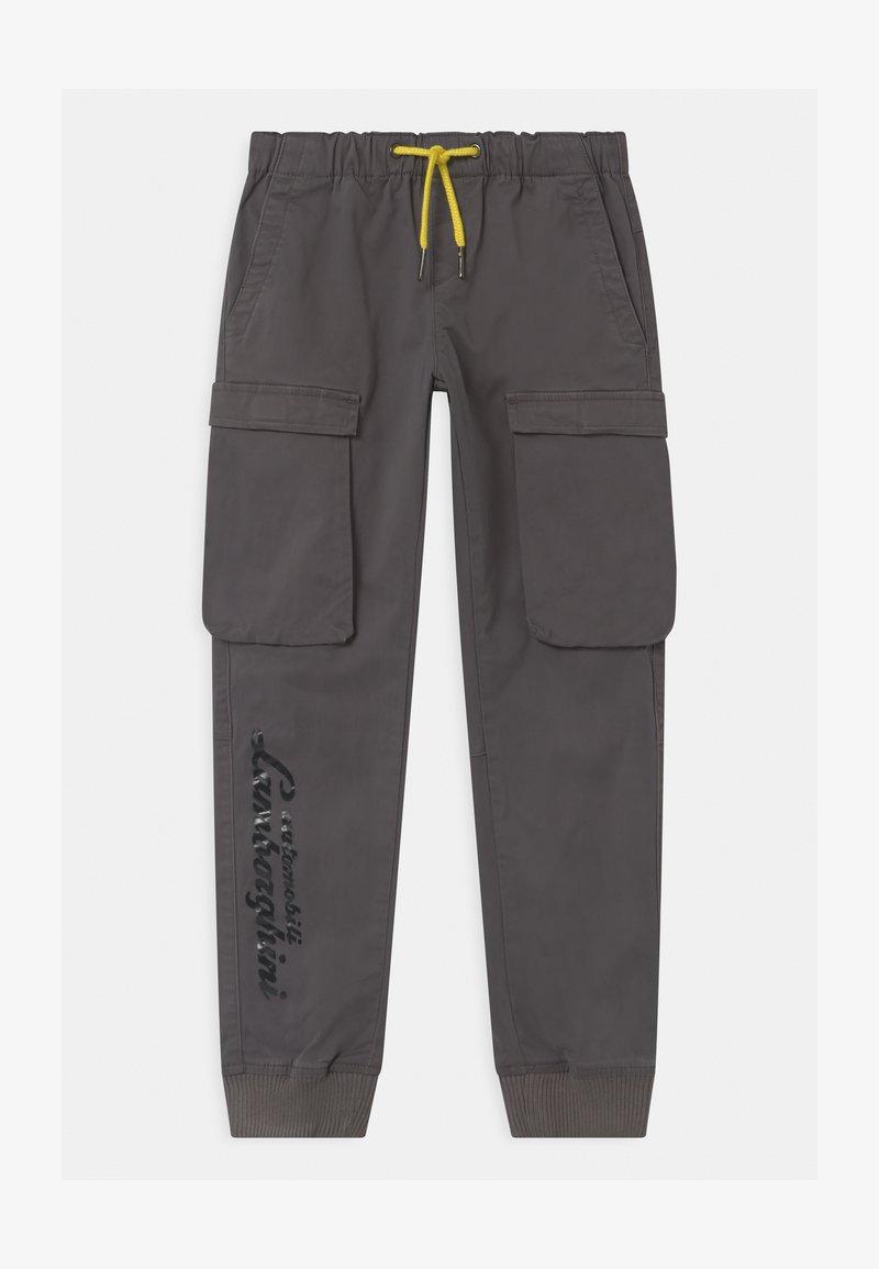 Automobili Lamborghini Kidswear - LOGOSCRIPT SPORTY - Cargo trousers - grey telesto