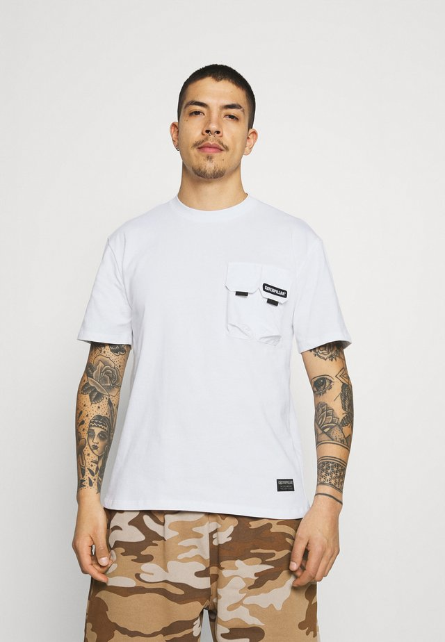 DOUBLE POCKET TEE - T-shirts basic - white