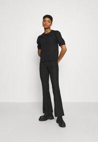 JDY - JDYLAURE COLLAR SHIRT - Button-down blouse - black - 1