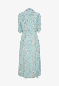 Esqualo - DRESS LONG HARVEST PRINT - Shirt dress - turquoise - 1