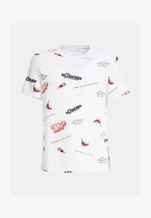 Print T-shirt - mehrfarbig, weiß