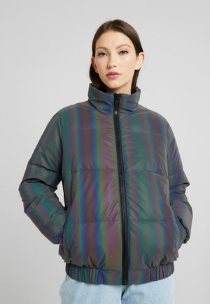 LADIES IRIDESCENT REFLECTIV PUFFER JACKET - Zimní bunda - rainbow/darksilver