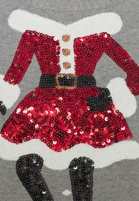 Fashion Union - CHRISTMAS MRS CLAUS ICE SKATING - Jumper - grey - 2