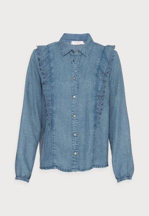 MANNY - Button-down blouse - soft blue denim
