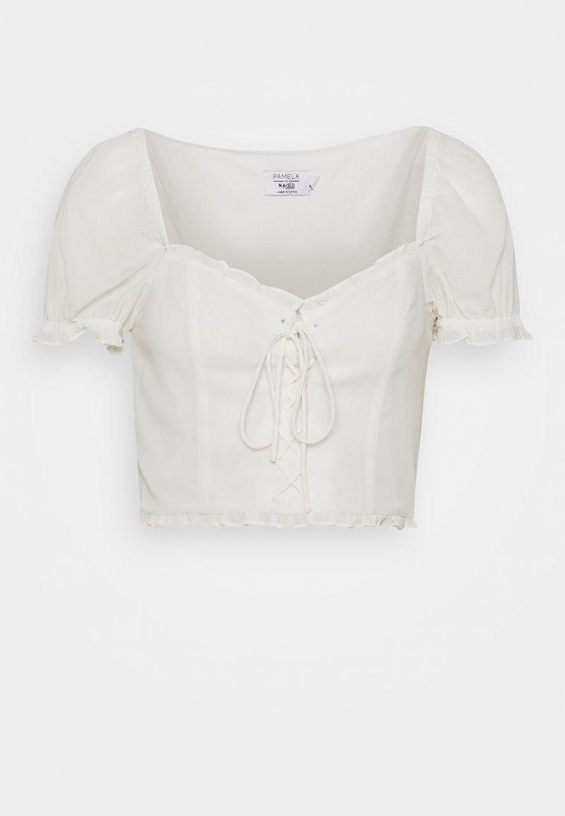 NA-KD - DETAIL CROPPED - Blusa - white