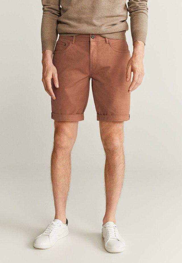 MIKONOSH - Denim shorts - brownish orange