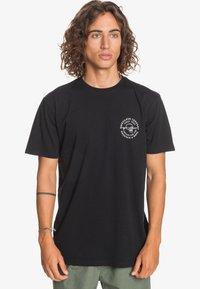Quiksilver - SLOW WAVES - Print T-shirt - black - 0