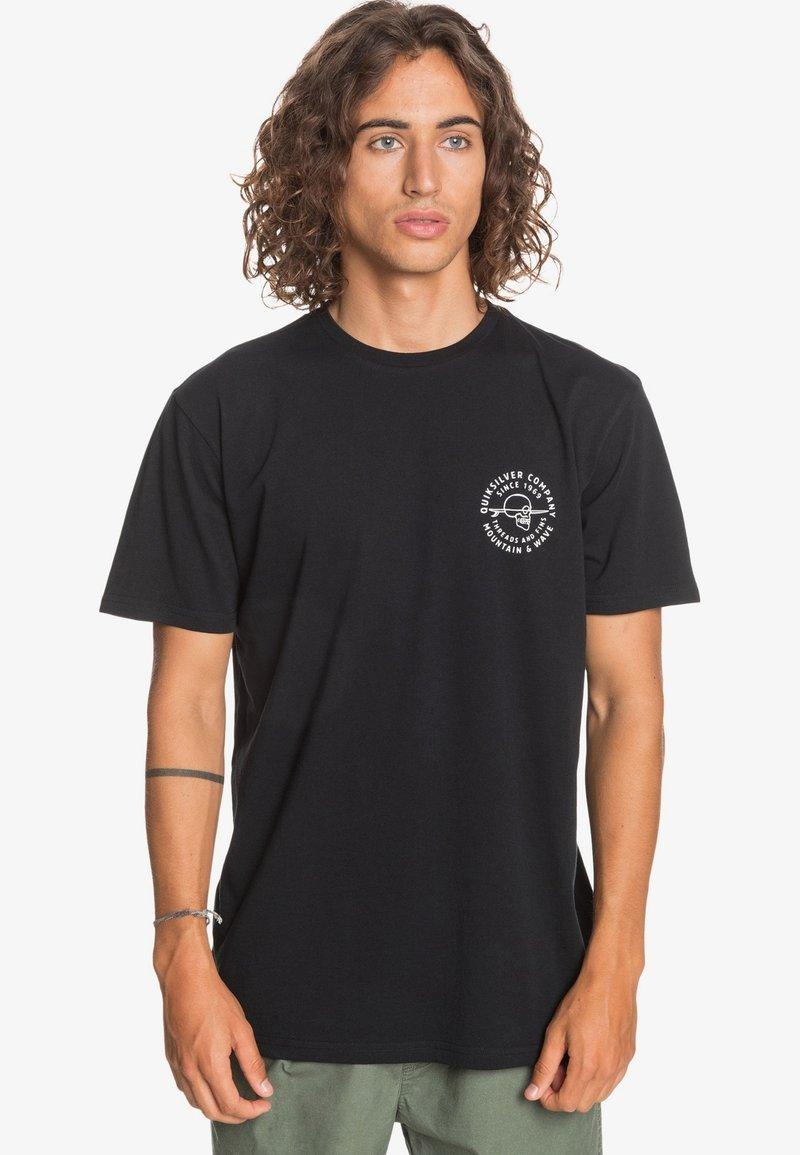 Quiksilver - SLOW WAVES - Print T-shirt - black