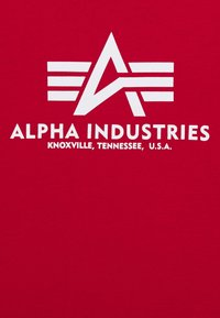Alpha Industries - BASIC - Print T-shirt - speed red - 2