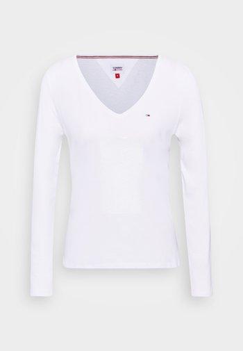 V NECK LONGSLEEVE - Topper langermet - white