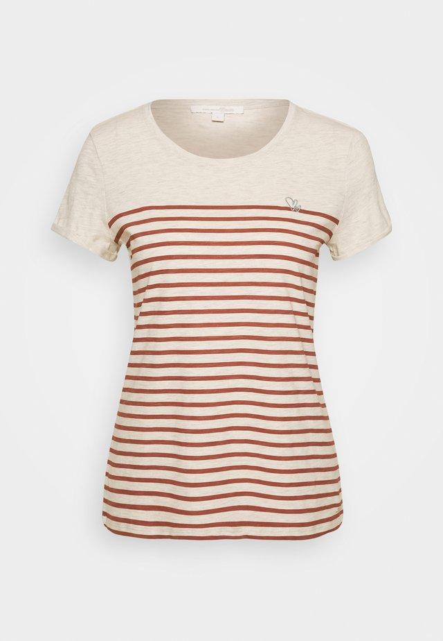 T-Shirt print - creme beige melange