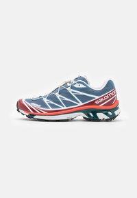 Salomon - XT-6 UNISEX - Sneakers basse - ashley blue/white/chert - 0