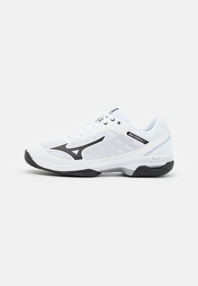 WAVE EXCEED SL 2 AC - Scarpe da tennis per tutte le superfici - white/black/lunar rock