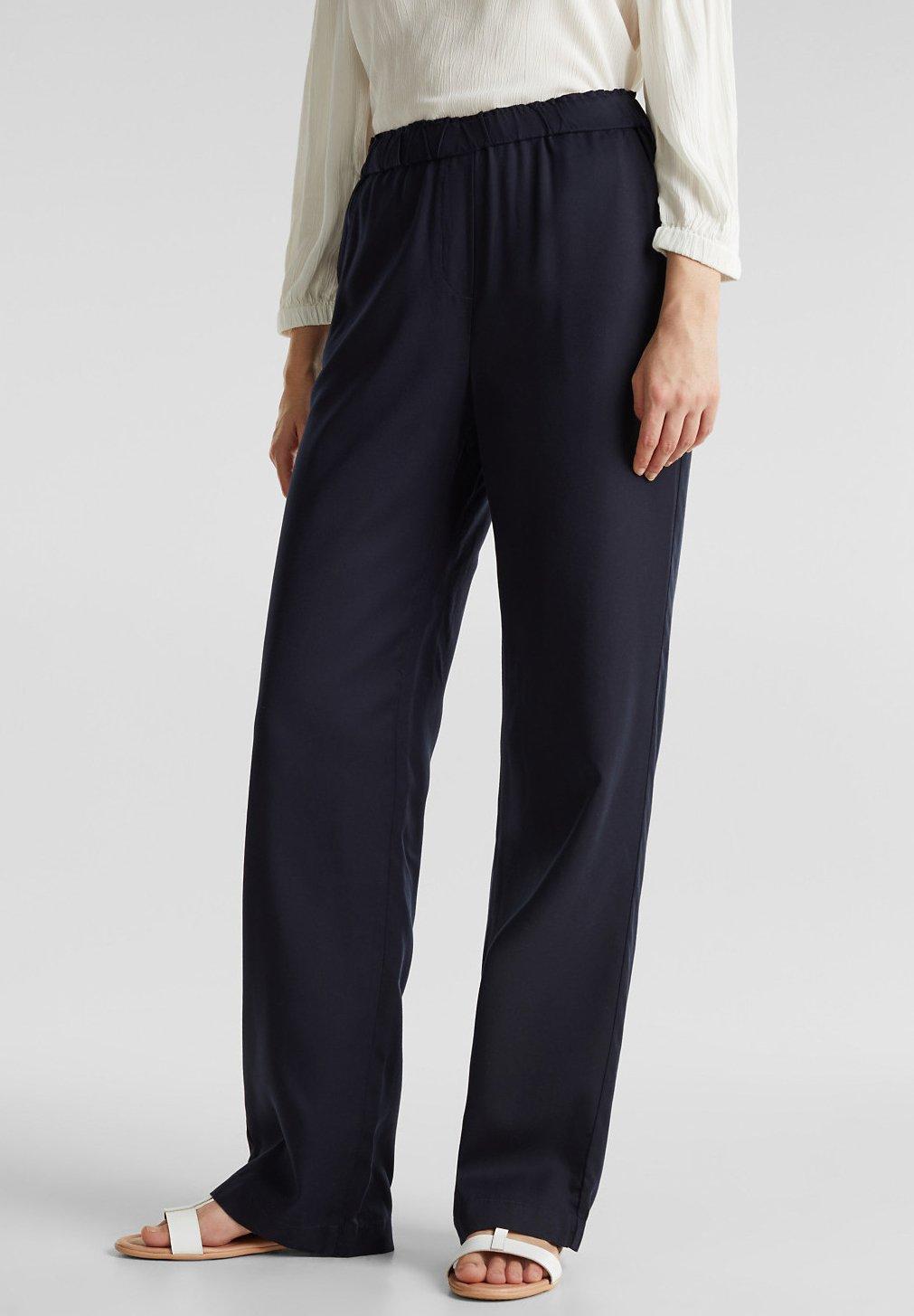 Femme AUS TENCEL™: HOSE MIT BEQUEMEM BUND - Pantalon classique