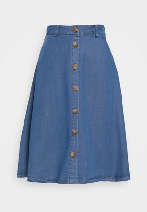 ONLMANHATTAN SKIRT - Denim skirt - dark blue denim