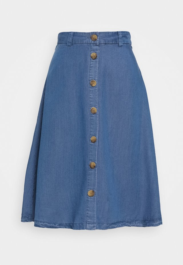 ONLMANHATTAN SKIRT - Falda vaquera - dark blue denim