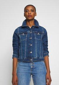 s.Oliver - LANGARM - Denim jacket - blue denim - 0