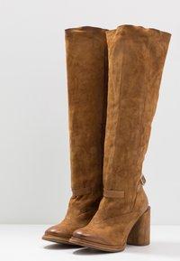 A.S.98 - Laarzen met hoge hak - cognac - 4